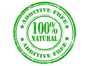additive free product label